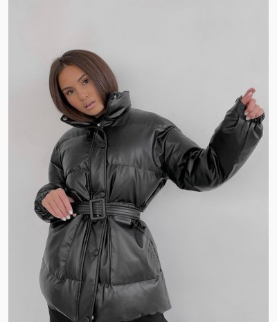 Демисезонная куртка из эко кожи