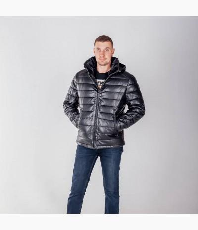 Мужская зимняя куртка с натуральным мехом из кролика