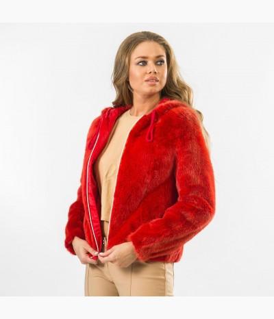 Яркая двухсторонняя куртка  из меха норки